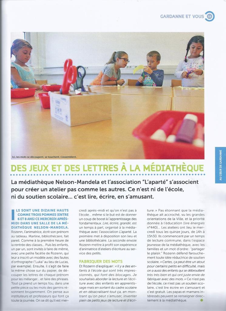 Presse atelier enfants Rozenn Guilcher