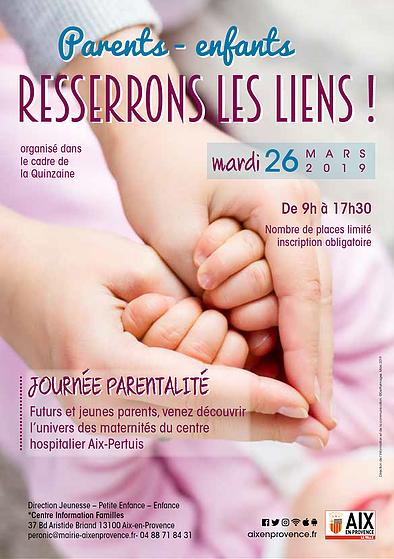 Affiche parentalité massages poétiques maman-bébé 2019