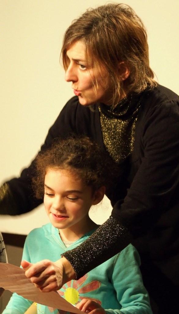 Rozenn Guilcher avec un enfant