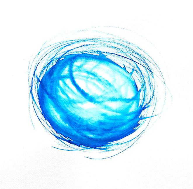peinture spirale bleue