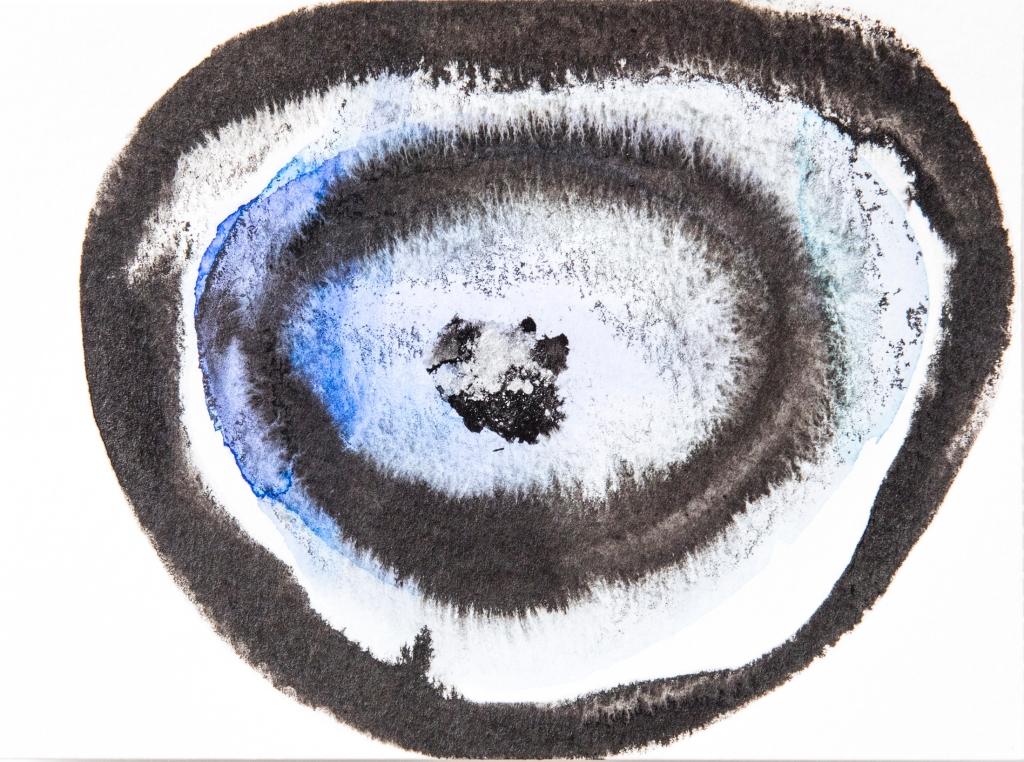 Cercles bleus encre Rozenn