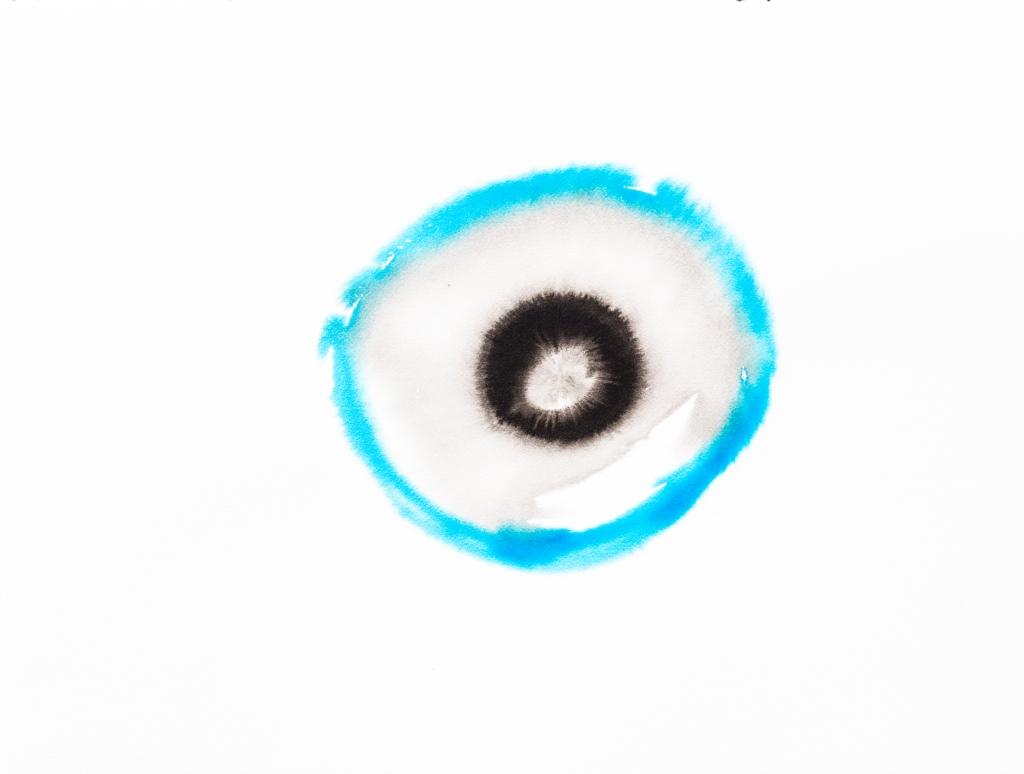 Cercle turquoise encre Rozenn GUILCHER