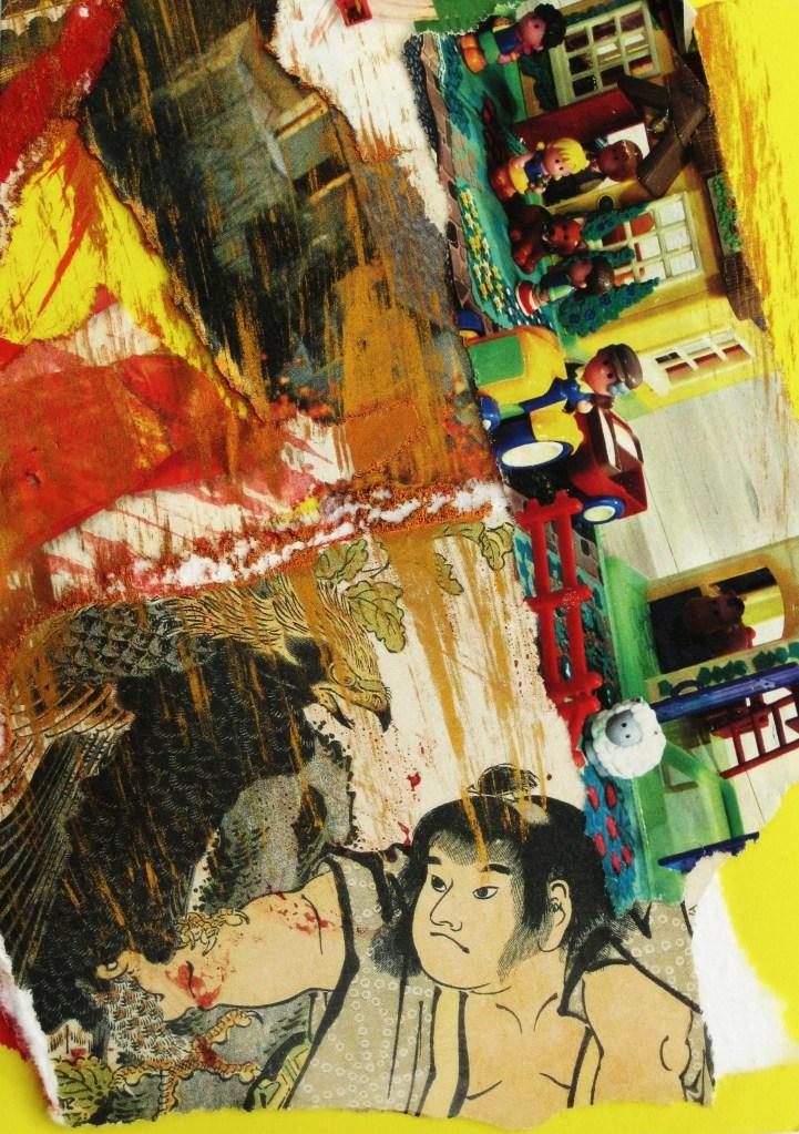 Collage Samourai Rozenn Guilcher
