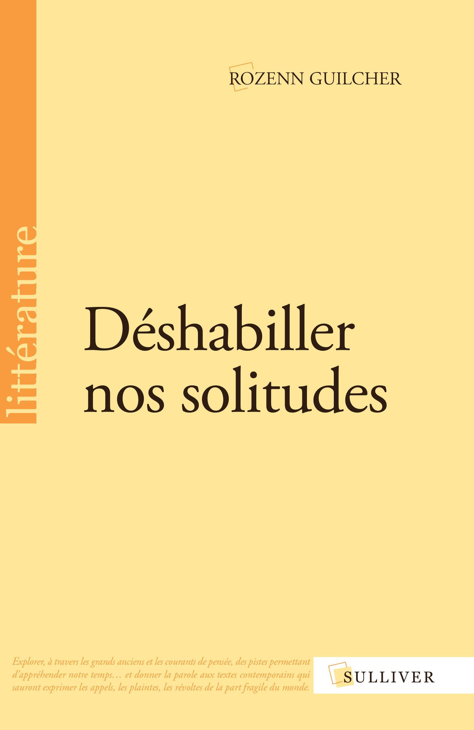 Livre Rozenn Guilcher Déshabiller nos solitudes